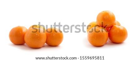 tangerine or mandarin fruit isolated on white background #1559695811