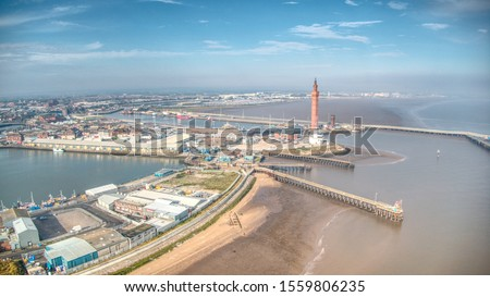 Grimsby docks with the dock tower #1559806235