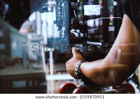 Film production crew, Behind the scenes background #1559870951