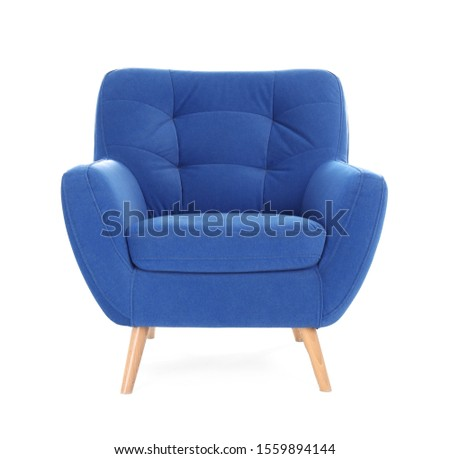 Comfortable armchair isolated on white. Interior element #1559894144