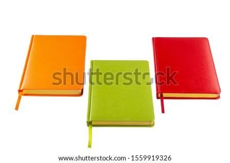 Orange Notebook, Green Notebook, and Red Notebook #1559919326