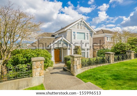 Luxury house at sunny day in Vancouver, Canada. #155996513