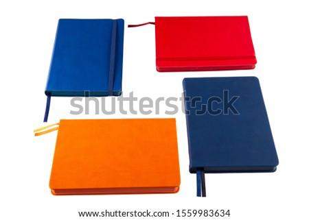 Blue Notebook and Blue Notebook, Red Notebook and Orange Notebook  #1559983634