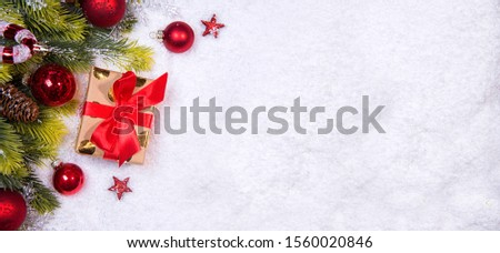 Christmas tree decorated with christmas ornamennts on a blurred, sparkling and fabulous fairy background with beautiful bokeh, copy space. #1560020846
