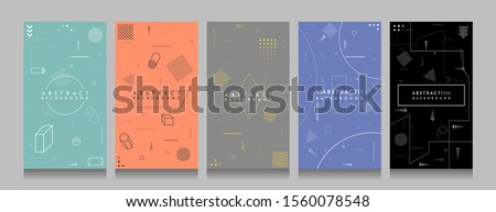 Memphis pattern. Vector illustration. Pastel color. Black and color background. Element for design business cards, invitations, social media stories template, discount voucher, gift cards, flyers. #1560078548