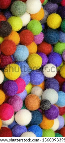 many balls made with flet fabric for sale at store #1560093398