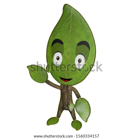 original 3D cartoon character of plant made in jpg