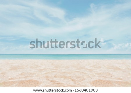 Sandy beach with sky - Image