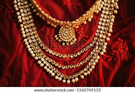 Indian bridal bridal wedding necklace #1560769133