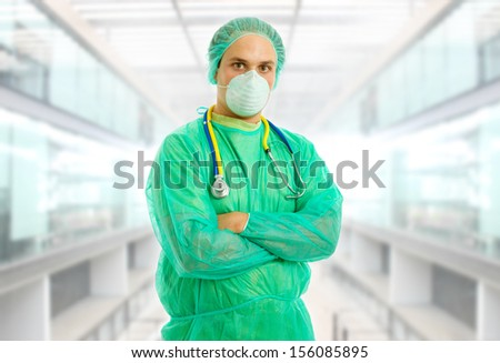 young male doctor at the hospital #156085895