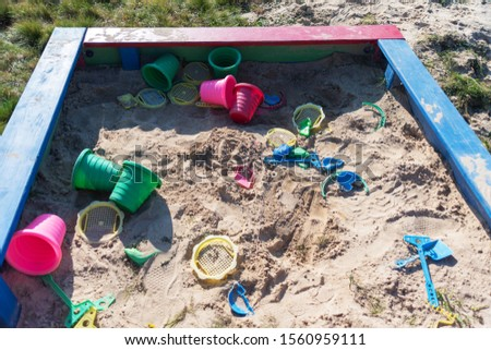 Playground in the countryside, with different types of swings and swings for children. #1560959111