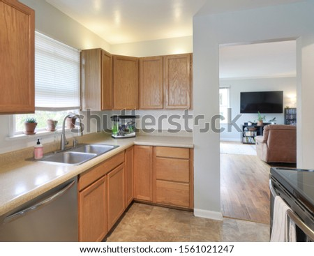 Auburn, WA / USA - Nov. 14, 2019: Modern kitchen interior #1561021247
