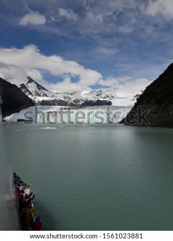 Glacier Landscape Glacier National Park Patagonia Argentina Lake Argentina mountains #1561023881