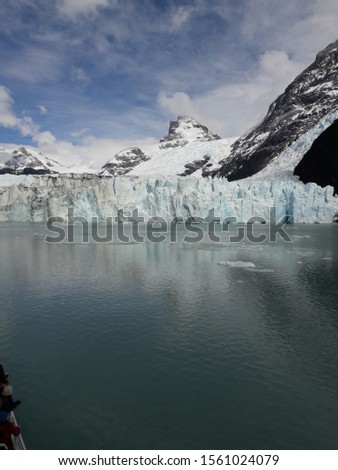 Glacier Landscape Glacier National Park Patagonia Argentina Lake Argentina mountains #1561024079