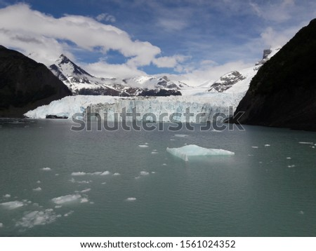 Glacier Landscape Glacier National Park Patagonia Argentina Lake Argentina mountains #1561024352