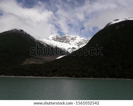 Glacier Landscape Glacier National Park Patagonia Argentina Lake Argentina mountains #1561032542