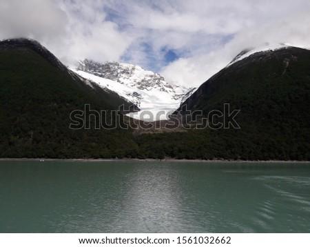 Glacier Landscape Glacier National Park Patagonia Argentina Lake Argentina mountains #1561032662