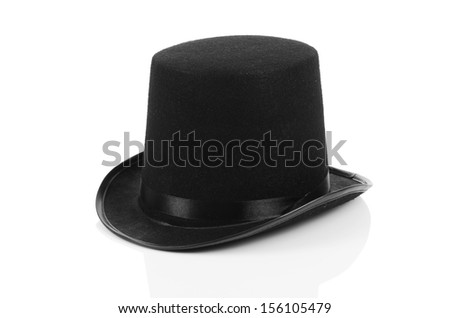 Black tophat top hat isolated on the white #156105479