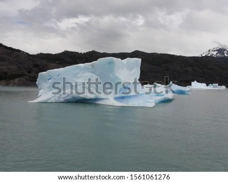 Iceberg Landscape Glacier National Park Patagonia Argentina Lake Argentina mountains #1561061276