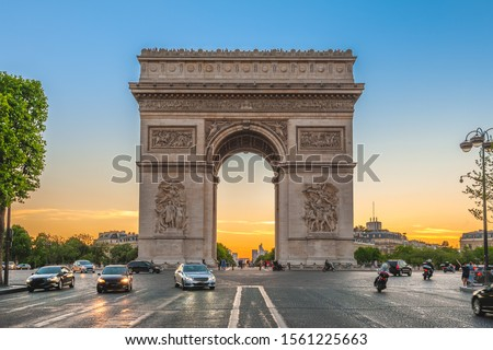 Arc de Triomphe (Triumphal Arch) in Paris , France #1561225663