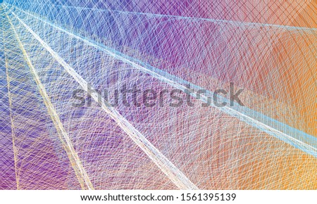 Abstract beautiful background with interlacing white lines on colorful background. Asymmetric abstraction. Vector EPS10 #1561395139