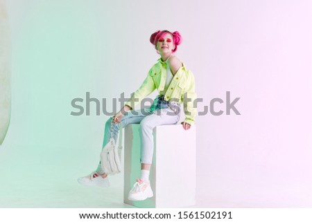 woman model looking at the camera isolated background