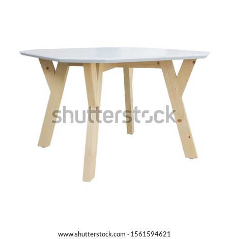 White brown wooden living room table isolated on white background. Interior design Inspiration. Furniture modern inspiration. Home living. Wooden Wardrobe inspiration. Scandinavian Interior. #1561594621