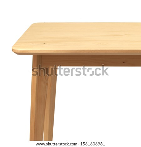 Wooden living room table isolated on white background. Interior design Inspiration. Furniture modern inspiration. Home living. Wooden Wardrobe inspiration. Scandinavian Interior. #1561606981