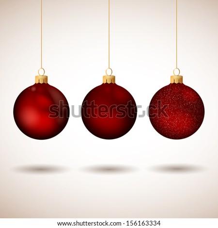 Vector Illustration of Decorative Christmas Balls #156163334