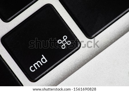 Closeup shot of key on computer keyboard         Royalty-Free Stock Photo #1561690828