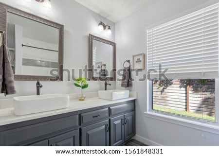 Ponte Vedra Beach, Florida / USA - November 16 2019: Bathroom decorated nicely  #1561848331