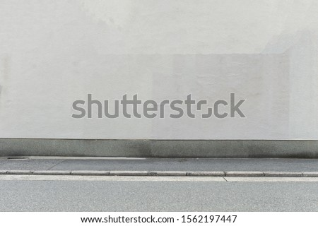 street wall background ,Industrial background, empty grunge urban street with warehouse brick wall #1562197447