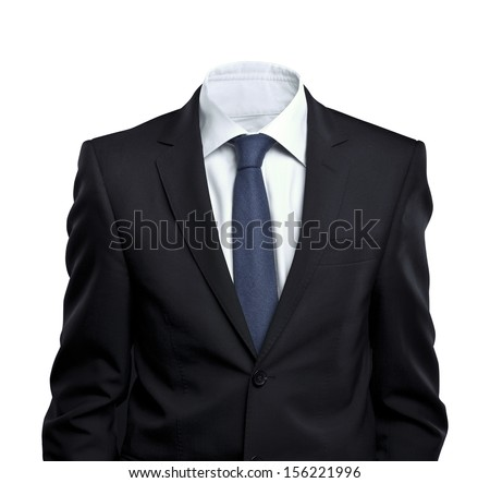 businessman without head on white background #156221996