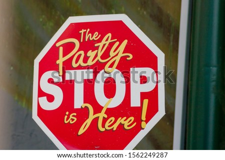 The party stop is here! #1562249287