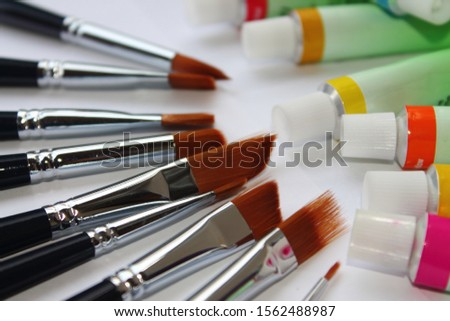 brushes for artistic drawing in oil, acrylic, watercolor and other materials #1562488987