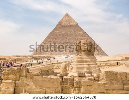 Cairo, Egypt; November 2019: Famous pyramids of Cairo, Egypt #1562564578