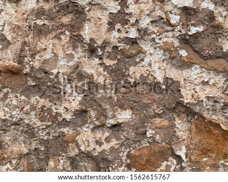 Dark brown and light brown weathered old wall  texture and wall background  #1562615767