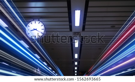 Rush hour Fast moving  evening ,Fast moving traffic drives   time lapse clock moving fast light each subway lane effect line light cg #1562693665