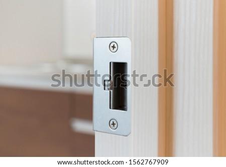 Housing doorknob Latch receiving side Indoor renovation construction example #1562767909