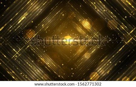 Abstract gold fractal composition. Magic explosion star with particles. motion illustration - Illustration  #1562771302