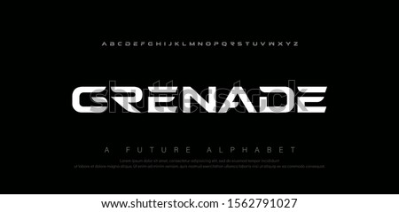 Sport digital modern alphabet fonts. Abstract typography technology electronic, sport, music, future creative font. vector illustration #1562791027