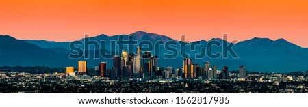 Los Angeles Skyline beautiful sunset