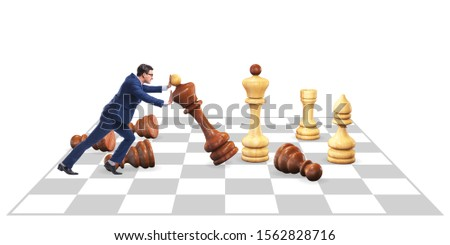 Strategy and tactics concept with businessman #1562828716