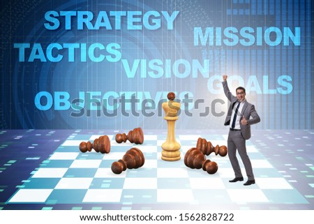 Strategy and tactics concept with businessman #1562828722