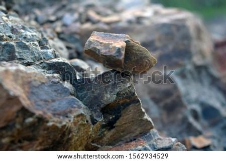 Stacked stone. Stone on stone background #1562934529