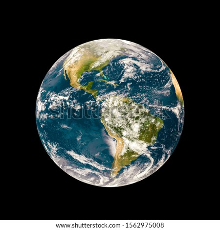Green Planet ,Earth globe isolated with clipping path on background. Elements of this image furnished by NASA