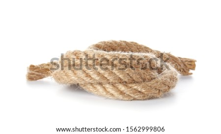 Rolled rope on white background #1562999806