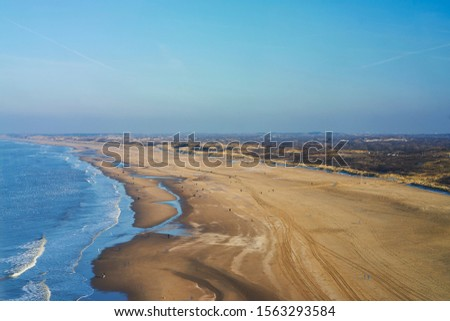 View from above on the beach of Scheveningen #1563293584