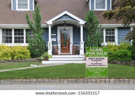 Real Estate Sign Welcome Open House For Sale Great School District Residential Neighborhood USA
