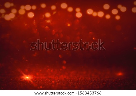 Light bokeh effect as background love valentine or christmas background light red #1563453766
